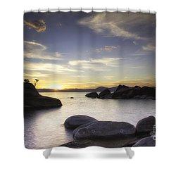 Quietude Shower Curtain by Michele Steffey
