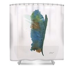 Shower Curtain featuring the painting Quill by Frank Bright