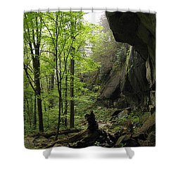 Quilliams Cave Shower Curtain by Melinda Fawver