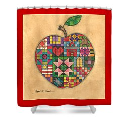 Quilted Apple Shower Curtain
