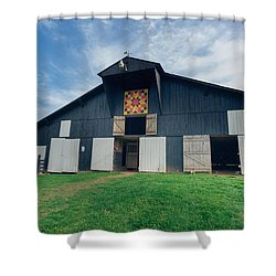 Quilted Barn Shower Curtain