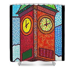 Quilted Clock Tower Shower Curtain by Jim Harris
