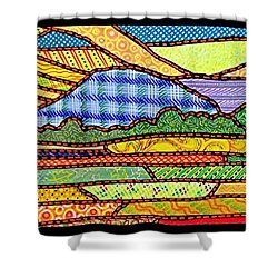 Quilted Massanutten Sunset Shower Curtain