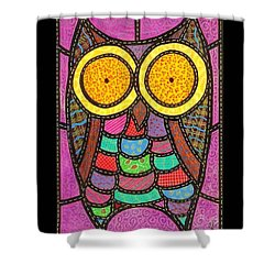 Quilted Owl Shower Curtain