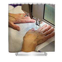 Quilting Pattern Shower Curtain