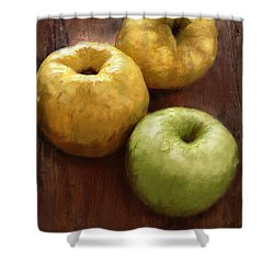 Quince And Apple Still Life Shower Curtain