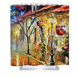 Quite Morning Shower Curtain by Leonid Afremov