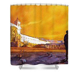 Quito Sunrise Shower Curtain