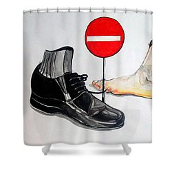 Shower Curtain featuring the painting Quo Vadis by Lazaro Hurtado