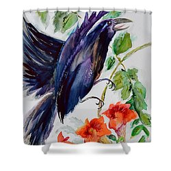 Quoi II Shower Curtain by Beverley Harper Tinsley