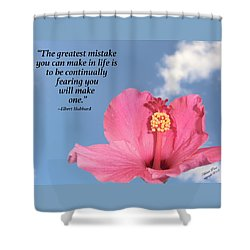 Quotes For The Soul Shower Curtain