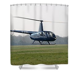 R44 Raven Helicopter Shower Curtain