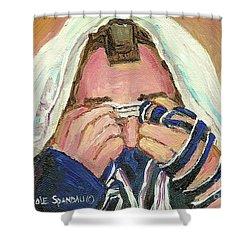 Rabbi's Prayer For The Sabbath Shower Curtain by Carole Spandau