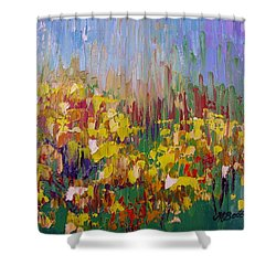 Rabbit Brush Abstracted Shower Curtain by Margaret Bobb
