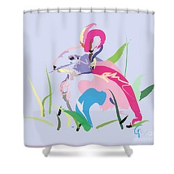 Rabbit - Bunny In Color Shower Curtain