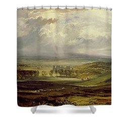 Raby Castle Shower Curtain by Joseph Mallord William Turner