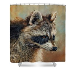 Raccoon Shower Curtain by David Stribbling