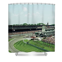 Indy 500 shower curtains fine art america for Race car shower curtain