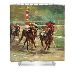 Race Horses Shower Curtain