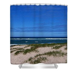 Race Point Beach Shower Curtain by Catherine Gagne