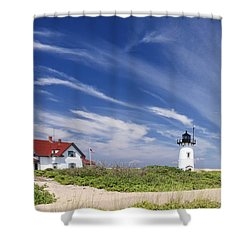 Race Point Light Shower Curtain