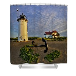Race Point Lighthouse Shower Curtain by Susan Candelario