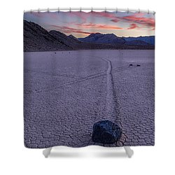 Race Track Death Valley Shower Curtain by Jerry Fornarotto