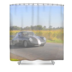 Racer Porsch 356 Shower Curtain by Jack R Perry