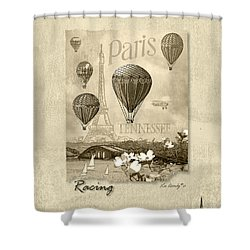 Racing In Sepia Shower Curtain