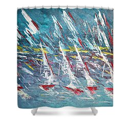 Racing To The Limits - Sold Shower Curtain by George Riney