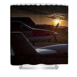 Radar Wing Shower Curtain by Paul Job