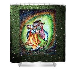 Radha Krishna Shower Curtain by Harsh Malik