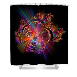Radiant Rings Shower Curtain