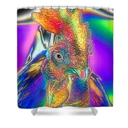 Shower Curtain featuring the photograph Radiant Rooster by Patrick Witz