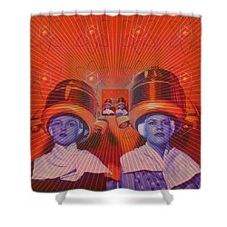 Shower Curtain featuring the digital art Radiant by Sasha Keen