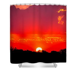 Shower Curtain featuring the photograph Radiant Sunset by Dee Dee  Whittle