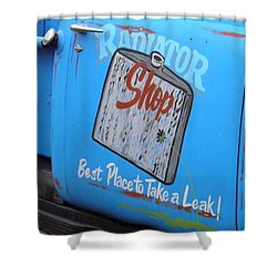 Radiator Shop Shower Curtain by Nick Kirby