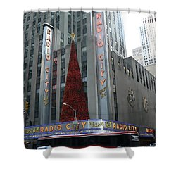 Radio City Christmas Shower Curtain