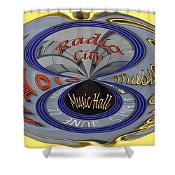Radio City Shower Curtain by Jean Noren