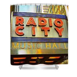 Shower Curtain featuring the photograph Radio City Music Hall by Judy Palkimas