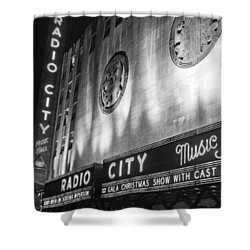 Radio City Music Hall Marquee Shower Curtain by Underwood Archives