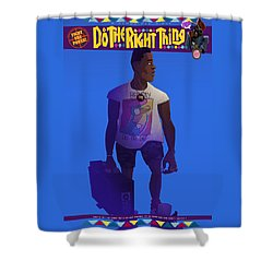 Radio Raheem Shower Curtain