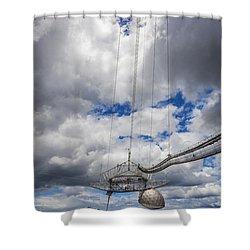 Radio Telescope At Arecibo Observatory In Puerto Rico Shower Curtain
