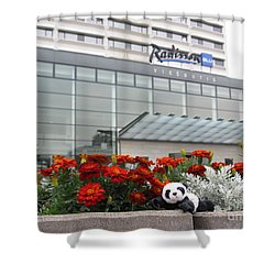 Radisson Blu Lietuva. Baby Panda Likes It Shower Curtain by Ausra Huntington nee Paulauskaite