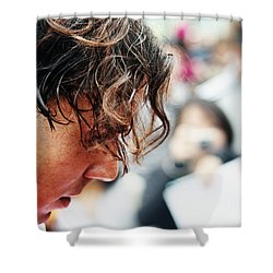 Rafael Nadal From Up Close Shower Curtain by Nishanth Gopinathan