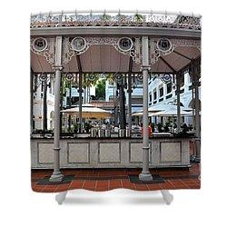 Raffles Hotel Courtyard Bar And Restaurant Singapore Shower Curtain