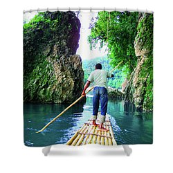 Rafting On The Rio Grande Shower Curtain by Carey Chen