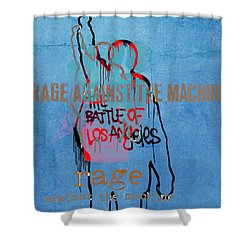 Rage Against The Machine Shower Curtain by Dan Sproul