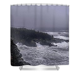 Raging Fury At Quoddy Shower Curtain by Marty Saccone
