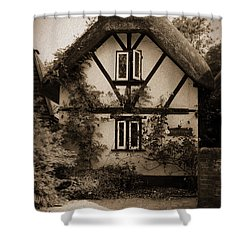 Rags Corner Cottage Nether Wallop Olde Sepia Shower Curtain